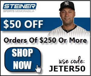 $50 Off $250 at Steiner Sports with code JETER50